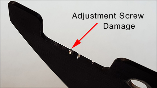 water ski fin damage adjustment set screw
